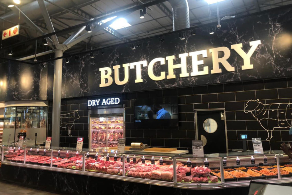Pick N Pay butchers counter design